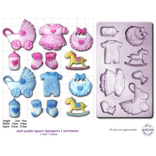 BABY SHOWER Craft Sugarcraft Sculpey Silicone Rubber Mold