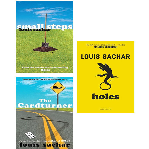 Cardturner,Holes,Small Steps 3 Books Collection Set by Louis Sachar