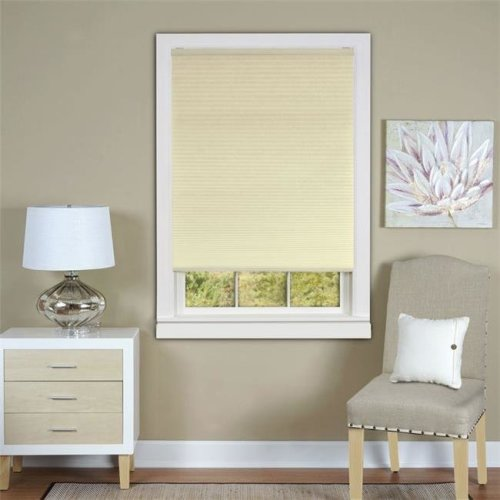 Honeycomb Cellular Alabaster Pleated Cordless Shade 35x64