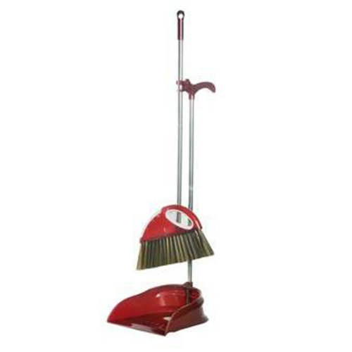 Durable Removable Broom and Dustpan Standing Upright Grips Sweep Set with Long Handle, #C5