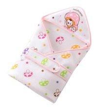 Lovely Baby Receiving Blankets Summer Hooded Swaddleme Mushroom  ,Pink