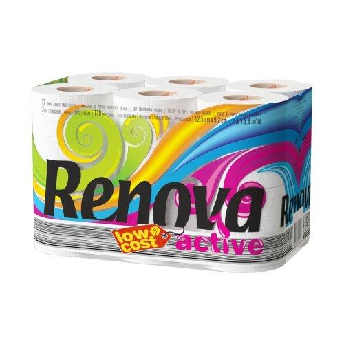 Renova Active 2 Ply Toilet Tissue Paper Roll (108 Rolls)
