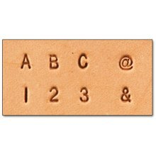 "Alphabet & Number Set - Craftool Alphabet & Number Set 1 8"" (3.1 Mm) Fabric Stamp Stamping Tool 8137-10"