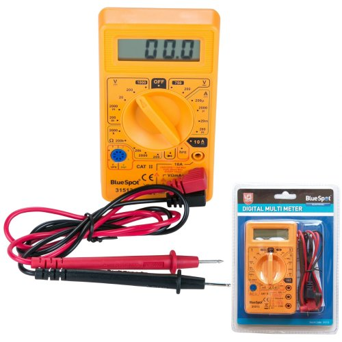 BlueSpot LCD Digital Multimeter Voltmeter AC & DC Voltage Tester Circuit Checker