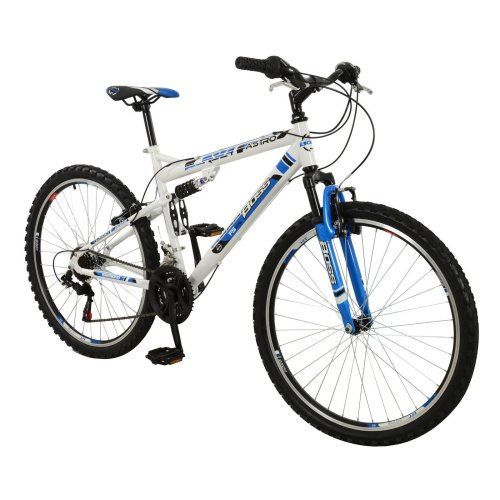 """26"""" Astro Suspension BIKE - MTB Mountain Bicycle BOSS (Adults) WHITE & BLUE New"""