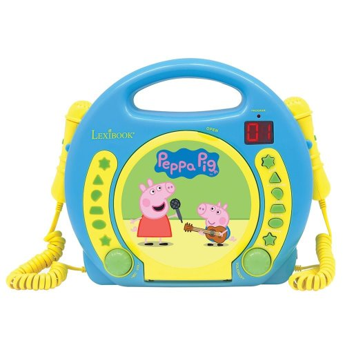 Lexibook RCDK100PP Peppa Pig Children's Portable CD Player with Microphone