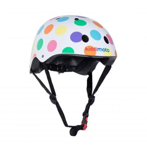 Kiddimoto Children's Bike / Scooter / Skateboarding Helmet - Pastel Dotty Design