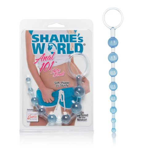Shanes World Anal Beads Soft Jelly Graduated Blue