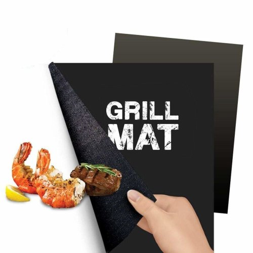 Flamen Heavy Duty Non-Stick BBQ Grill Mat Reusable Durable and Creates Grill Marks Set of 2