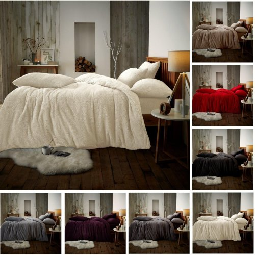 Teddy Fleece Soft and cosy Duvet Cover and Pillow Case