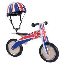 Kiddimoto Kurve Wooden Children's Balance Bike & Matching Helmet Bundle