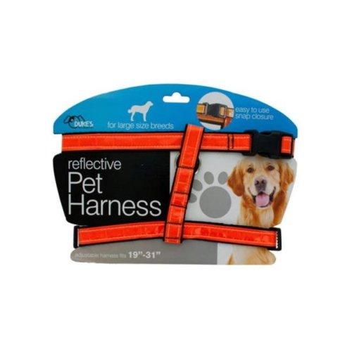 Kole Imports DI553-12 Large Reflective Dog Harness - Pack of 12