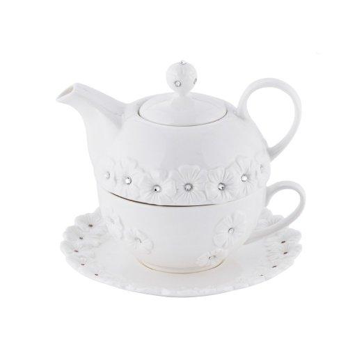 Tea Set White GLIFA