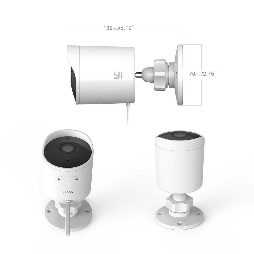 YI Outdoor Surveillance Camera Wireless - White