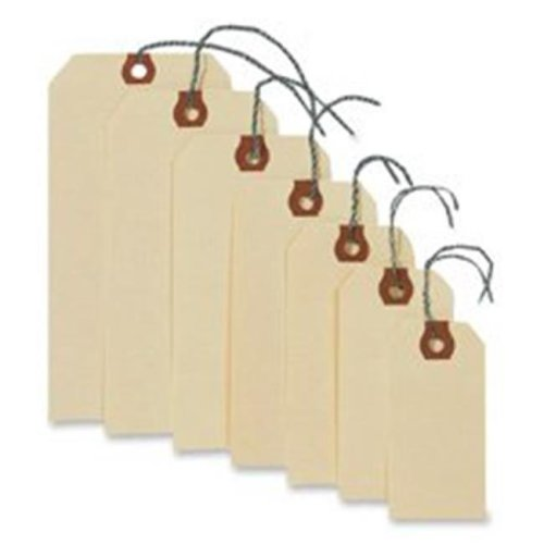 Avery Consumer Products AVE12601 Shipping Tags W-Wire- No 1- 2-.75in.x1-.38in.- Manila
