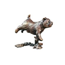 Bronze  - Running Westie Dog Figure - Butler & Peach - 2033.