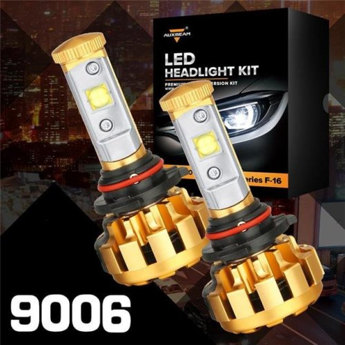 Auxbeam 88621848 F-16 Series 9006-HB4 LED Headlight Vehicle Conversion Bulb