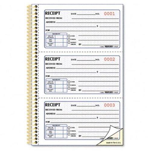 Rediform 8L829 Receipt  2-3/4 x 5  Carbonless Duplicate  225 Sets/Book