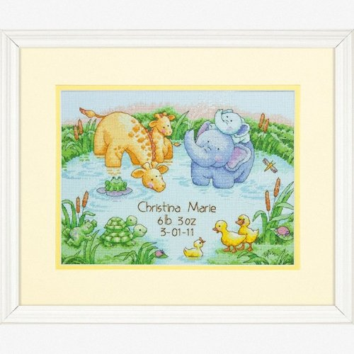 D70-73697 - Dimensions Counted X Stitch - Birth Record: Little Pond