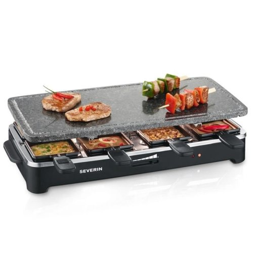 Severin RG 2343 Raclette grill with stone 1500 W 8 mini-pans surface