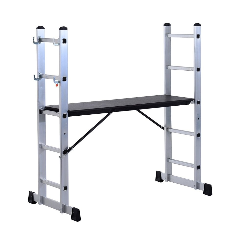 Homcom Aluminium Scaffolding Ladder Multi Combination