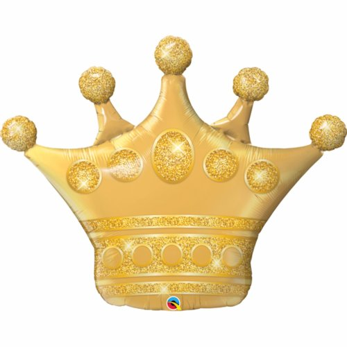 Qualatex Golden Crown Supershape Foil Balloon
