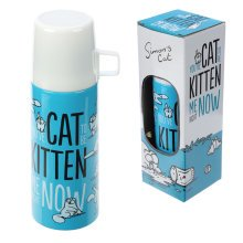 Simons Cat Stainless Steel Thermos Flask 350ml 20.5cm High Simon's Cat