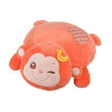 Lovely Cartoon Monkey Design Plush Nap Pillow Sofa Cushions Neck Pillow Orange