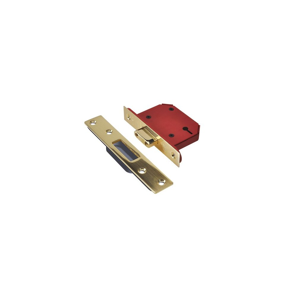 Union Y2103S-PB-3.0 StrongBOLT Polished Brass 3 Lever Mortice Dead Lock Visi