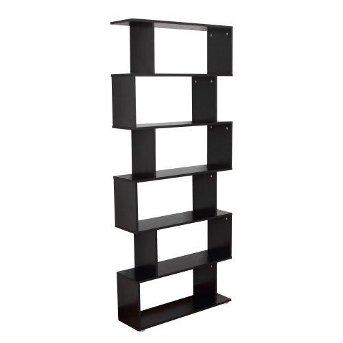 Homcom Wooden Wood Storage 6 Shelves Unit Cabinet Office Furniture