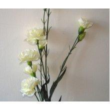 Artificial Silk Carnation Flower Spray