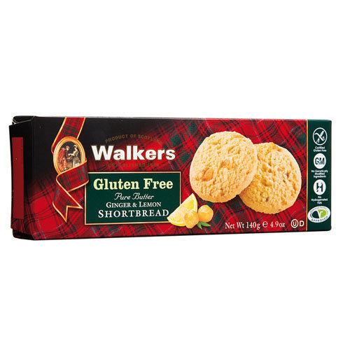 Walkers  Gluten Free Ginger & Lemon Shortbread 140g
