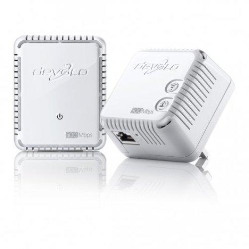 Devolo dLAN 500 WiFi, Starter Kit 500Mbit/s Ethernet LAN Wi-Fi White 2pc(s) PowerLine network adapter
