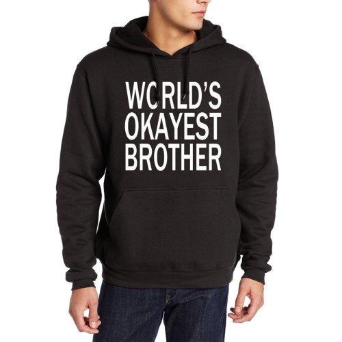 World\'s Okayest Brother sweatshirt men 2017 autumn winter funny kpop hoodies male casual fleece harajuku tracksuit hip-hop hoody
