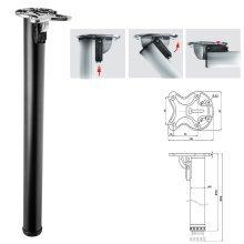 1x 870mm Folding Black Breakfast Bar Worktop Support Table Leg 50mm Diameter