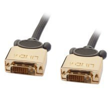 Lindy 37142 2m DVI-D DVI-D Grey DVI cable