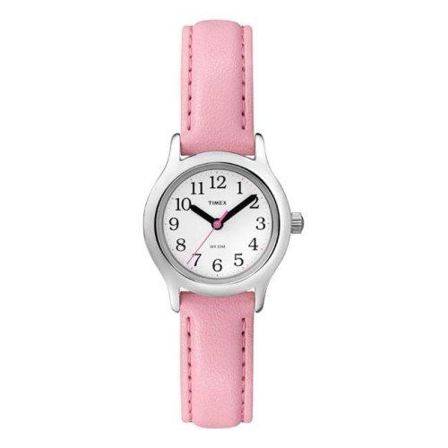 Timex 6518096 Wrist Watch Girl Round Analog Vinyl Water Resistant - Pink