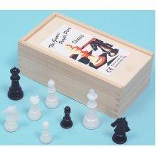 Plastic chess men, Staunton pattern, 65mm. King - 00248