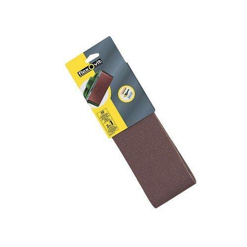 Flexovit 63642526478 Cloth Sanding Belts 610mm x 100mm 80g Medium Pack of 2