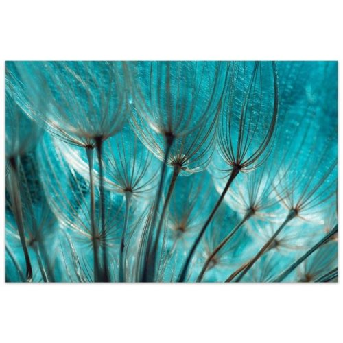 Empire Art Direct TMP-EAD1756-3248 32 x 48 in. Dandelion Frameless Tempered Glass Panel Contemporary Wall Art