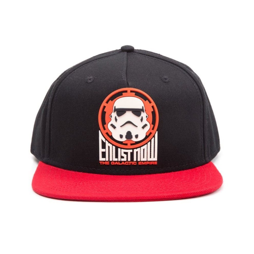 Star Wars The Galactic Empire Stormtrooper Snapback Baseball Cap -  Black Red ... 5f399f9630cf
