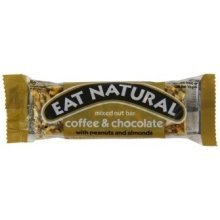 EAT NATURAL - Coffee & Chocolate with Peanuts & Almonds 12 X 45g