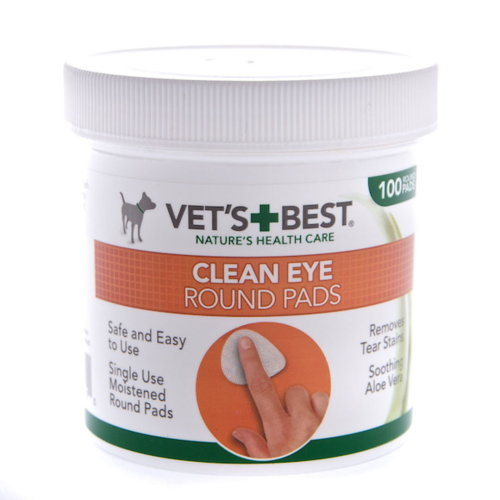 Vets Best Clean Eye Round Pads 100 Wipes