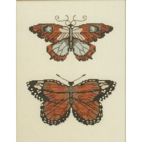 Butterflies of Gold Counted Cross Stitch Chart Pattern 2 Designs