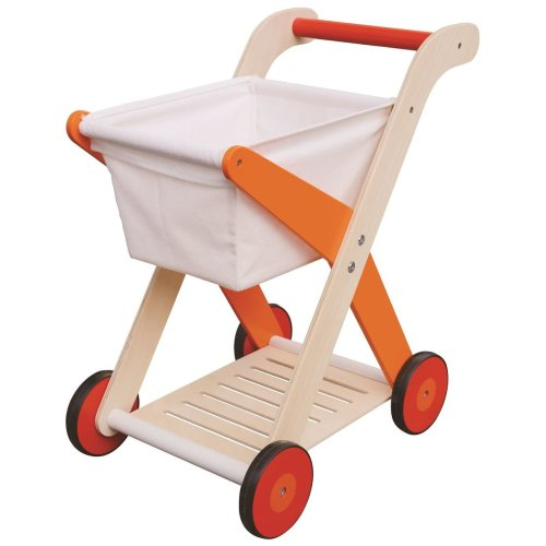 Lelin Wooden Shopping Trolley Cart Pretend Play Toy