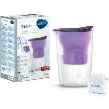 BRITA Fun Water Filter Compact Fridge Jug + MAXTRA+ Plus Cartridge Refill Purple