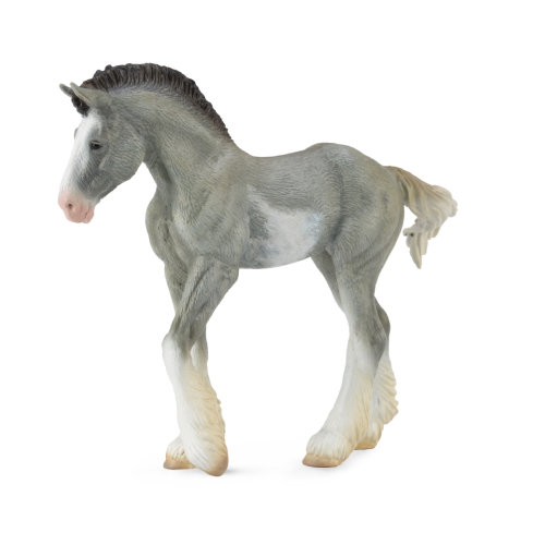 CollectA Clydesdale Foal Black Sabino Roan