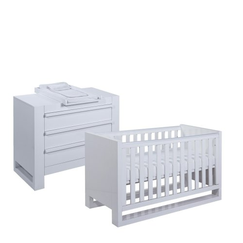 Tutti Bambini Rimini 2 Piece Room Set - High Gloss White