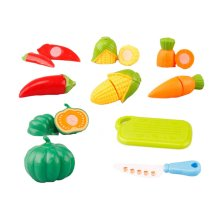 Set of Six Cut Vegetables Children Toys Kitchen Model Toys