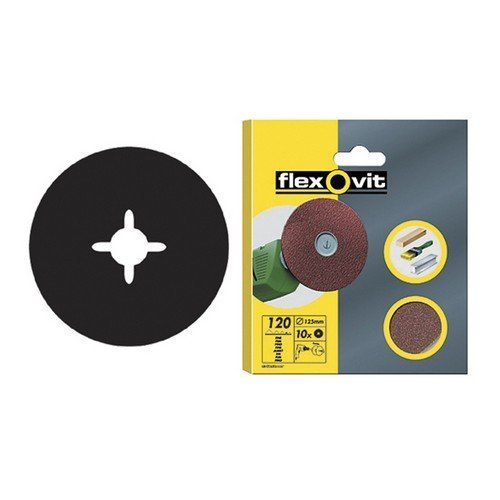 Flexovit 63642526496 Drill Mountable Discs 125mm Assorted Pack of 10